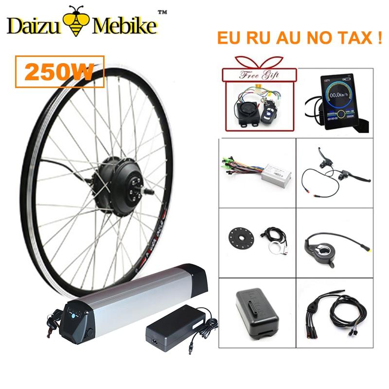 36V 250W Brushless Hub Motor Electric Bike Conversion Kit  36V 10A/12A Lithium Battery LED LCD Controller optional Ebike