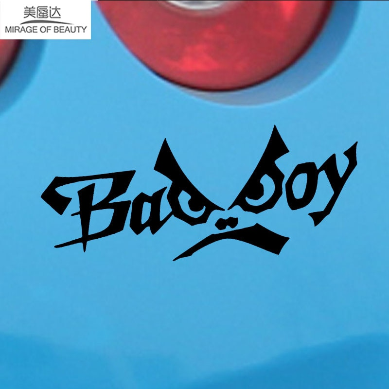 15.6cm*6.3cm English Alphabet Bad Boy Creative Personality Funny Eyes Car Styling Fashion Vinyl Car Stickers Decals