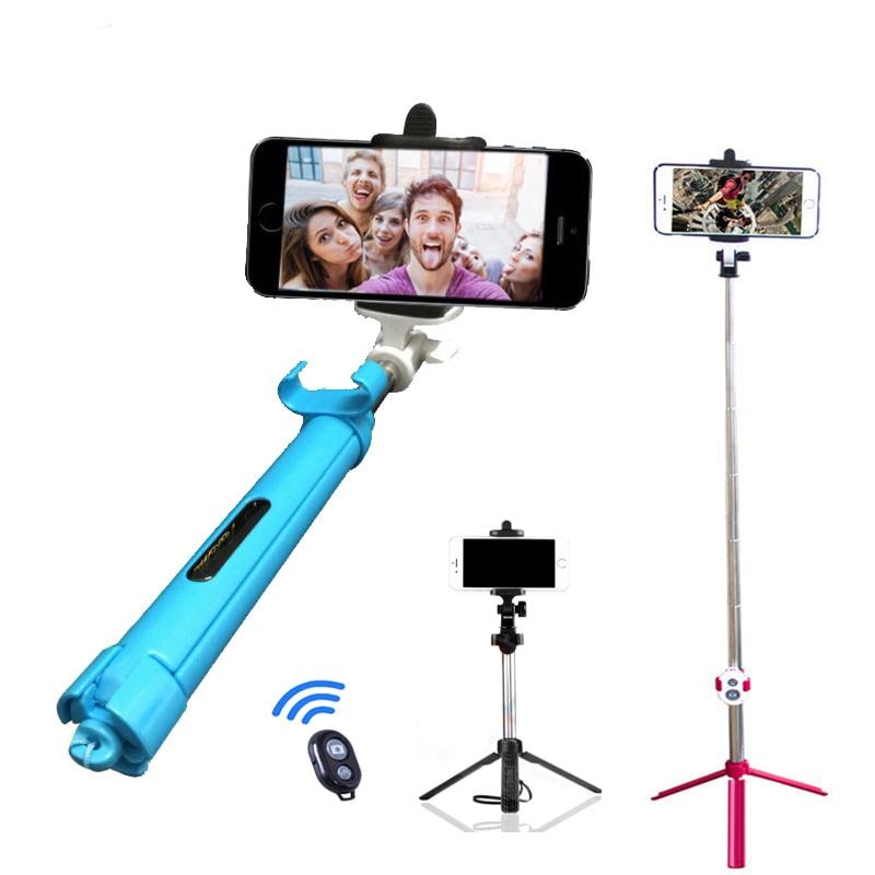 Monopié SelfieStick Bluetooth con botón Pau De Palo Selfie teléfono titular para Android iPhone 6S 7 8 X Samsung soporte Accesorios
