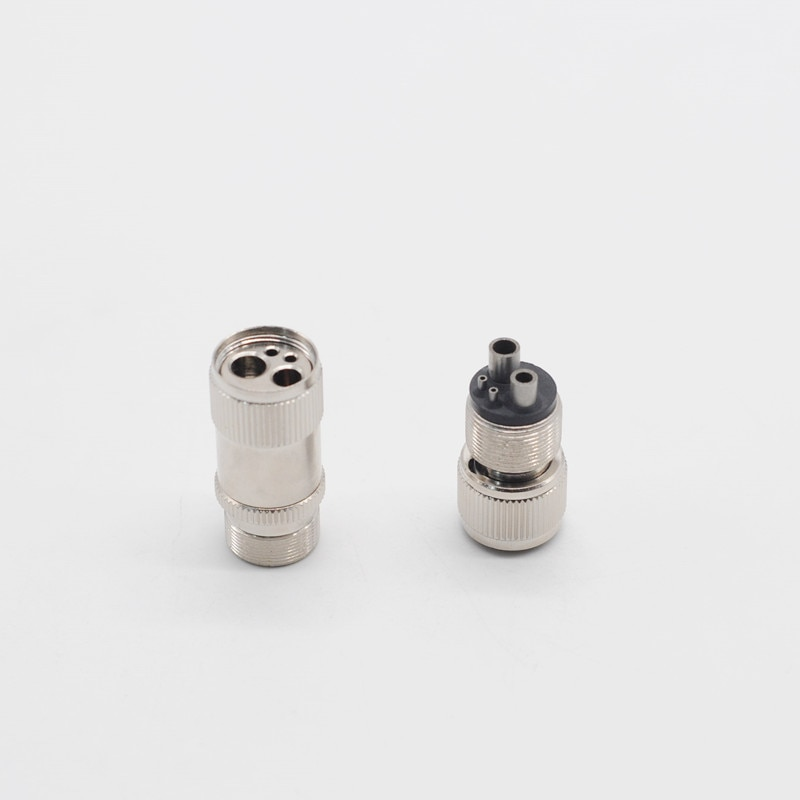 Cambiador convertidor de laboratorio dentista 2 agujeros M4 a B2/4 agujeros B2 a M4 para pieza de mano Dental