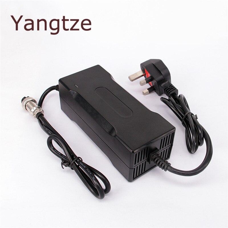 Cargador de batería de coche de litio de 5 piezas Yangtze 12,6 V 8A 7A 6A Batteies 12 V AA cargador inteligente Ebike para e-bike Li-Ion Chargeur pila