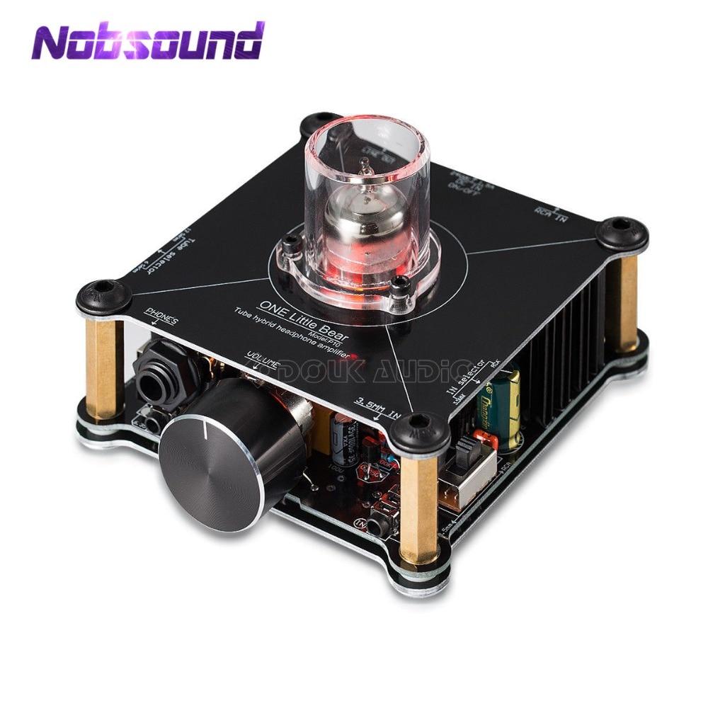 AMPLIFICADOR DE AURICULARES multihíbrido Nobsound HiFi Mini Clase A 12AU7, preamplificador estéreo Little Bear P10