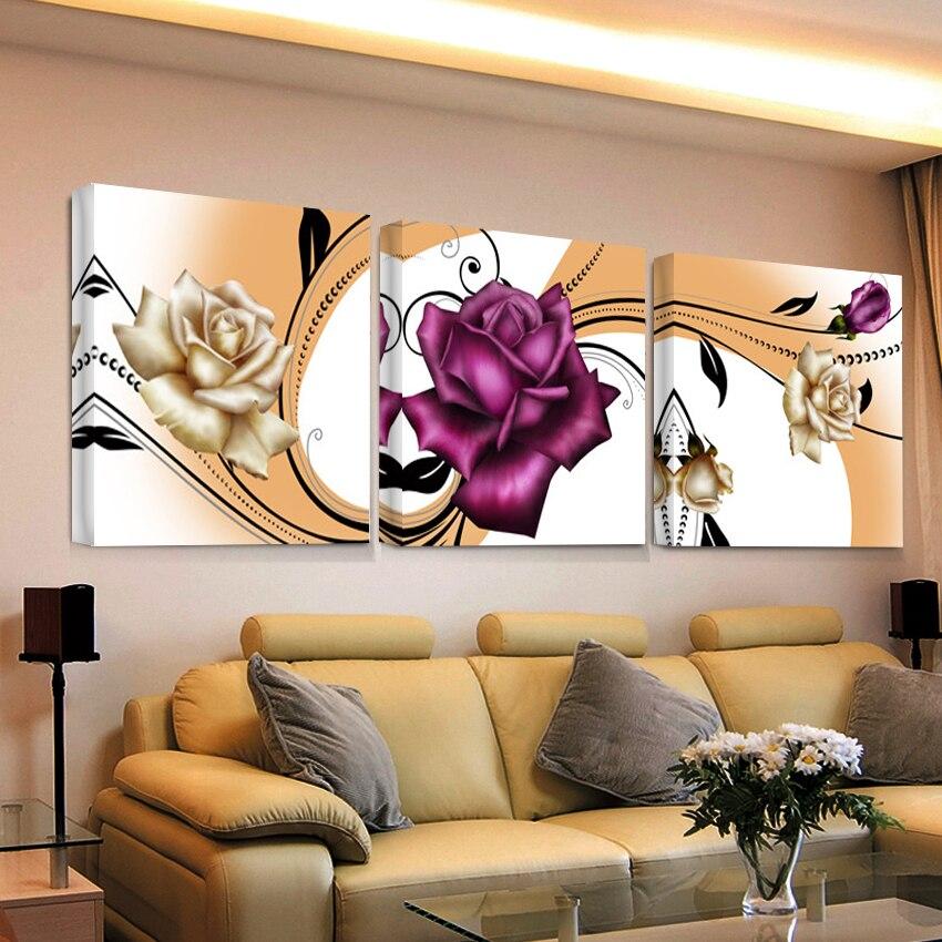 Impresión hd 3 piezas de aceite modular pintura en bilder pintura moderna...