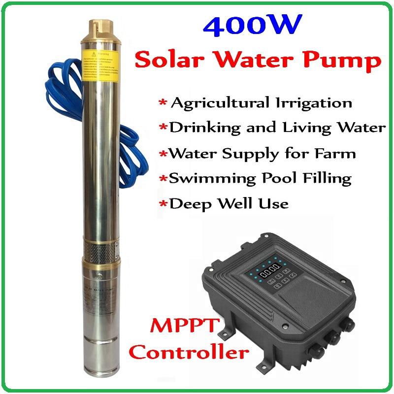 300 w 400 w 550 w 600 w dc48v bomba de água profunda solar sem escova de alta velocidade com motor de ímã permanente para casa & agricultura & fazenda