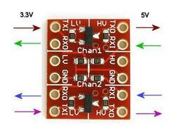Frete Grátis! 2 pces conversor de nível lógico converter 3.3 v 5 v ttl lógica conversão de nível bidirecional mútuo converter sensor
