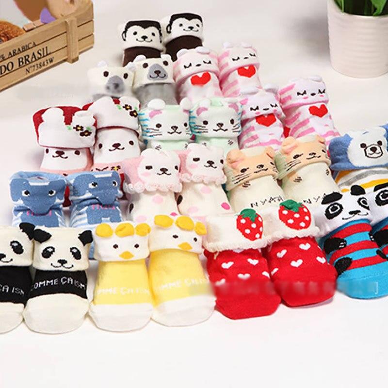 Calcetines para bebé, calcetines para recién nacidos, calcetines de algodón con bonitos dibujos de animales para niña, calcetines cortos para verano, primavera y otoño