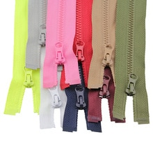2Pcs 50Cm 3# High-Grade Resin Zippers For Clothes Jacket Clothing Down Colorful Zipper For Sleeping
