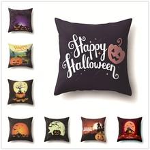 Cartoon Pumpkin Halloween Cushion Cover Festival Decorative Soft Pillow Covers Kids for Sofa Bedroom Living Room Decor 45x45cm