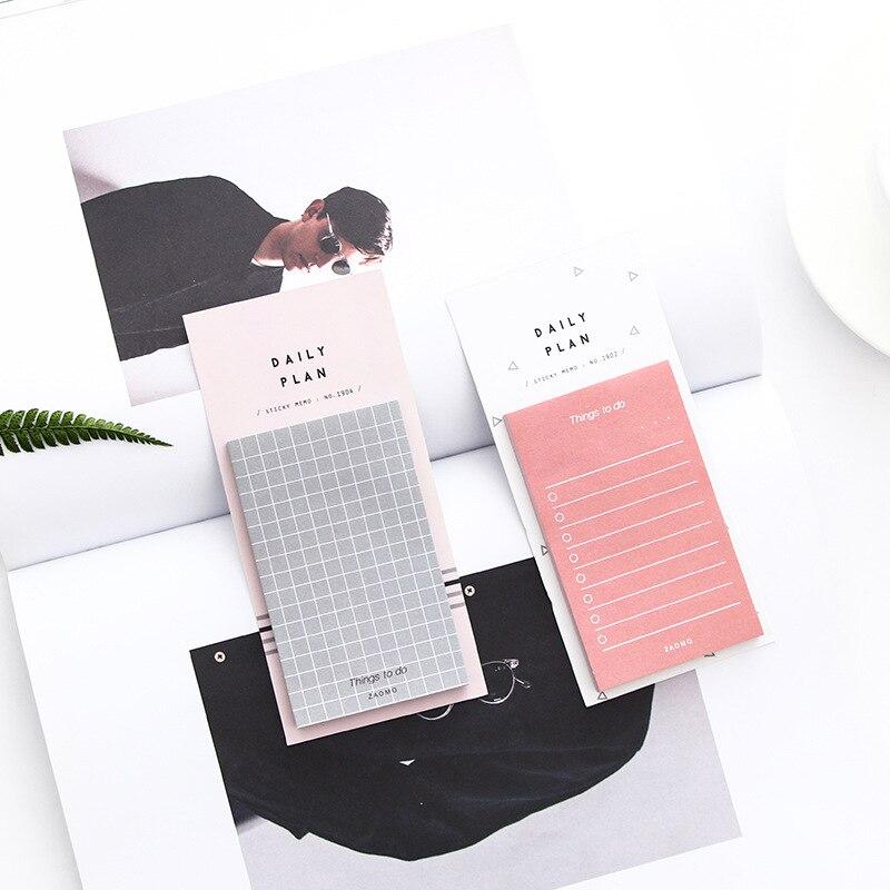 Kawai diario semanal libro planificador mensual Cute Memo Pads Sticky Paper Notes Post Note Corea papelería oficina escuela suministros