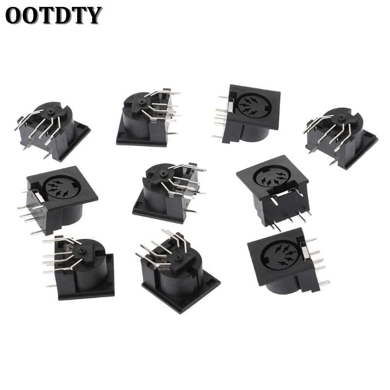 OOTDTY 10 шт./компл. печатная плата монтажный разъем DIN5 DIN 5-контактный разъем DS-5-01 MIDI