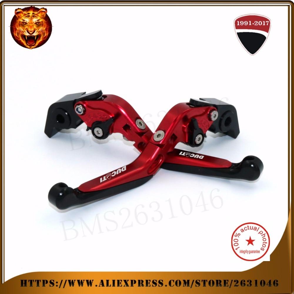 Para ducati monster 1200s 2019 monster1200 vermelho preto ouro motocicleta ajustável folding extensível embreagem do freio leve