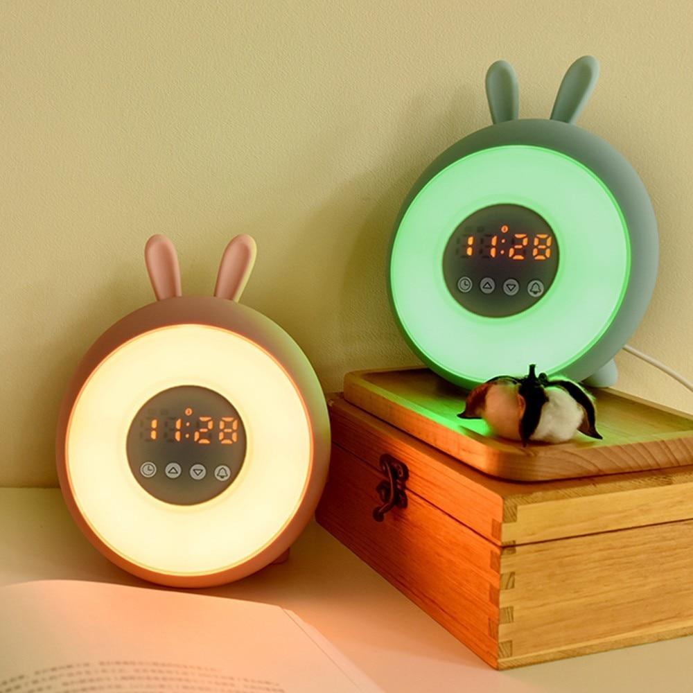 Sweet Time Bunny Light 3D Cartoon Luminaria LED Veilleuse luz LED nocturna despertador lámpara de dormitorio para niños