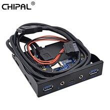 """5 ports USB 3.1 TYPE-C USB 3.0 panneau avant avec Interface Audio 3.5mm TYPE C adaptateur dextension de moyeu pour bureau 3.5 """"baie de disquette"""