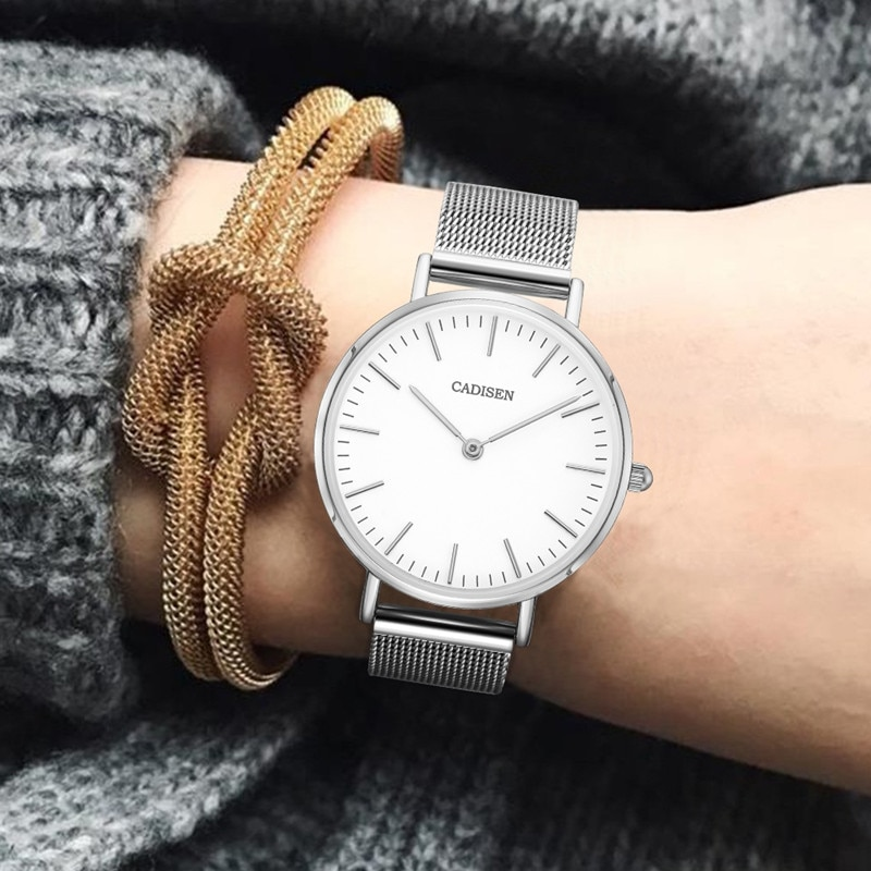 NEW CADISEN Luxury Watch Fashion Women Watches Quartz Watch Waterproof Ladies Casual Dress Wristwatch montre femme dropshipping enlarge