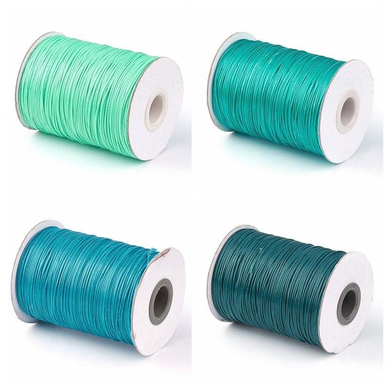 1,0mm Korean Waxed Polyester Cord Gewinde für Geflochtene Halskette Armband Schmuck DIY Schwarz Grün Teal Kamel über 93 yards /rolle