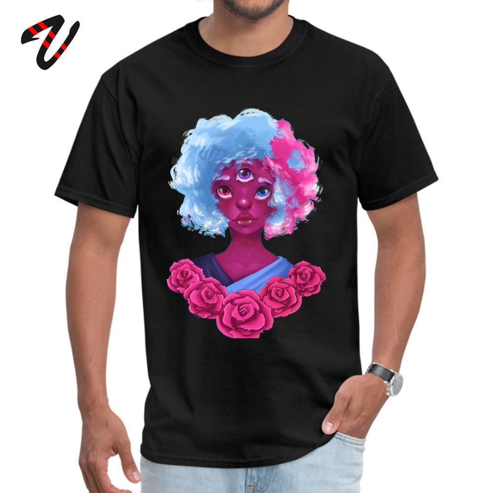 Steven Universe granate Japón Top camisetas para hombre Hell verano otoño camisetas impresas en camisetas de manga corta cuello redondo
