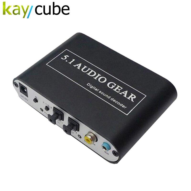 Decodificador de sonido Kaycube 5,1 AC3 DTS HD, equipo de Audio, convertidor de Audio Digital estéreo LPCM a 5,1, salida analógica, 2,1 DVD, PC, envío gratis