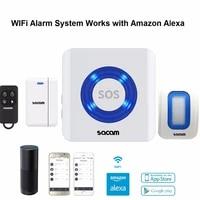 Systeme dalarme de securite domestique sans fil  wi-fi  controle a distance  Alexa  Amazon  accessoires pour maison connectee  commande vocale