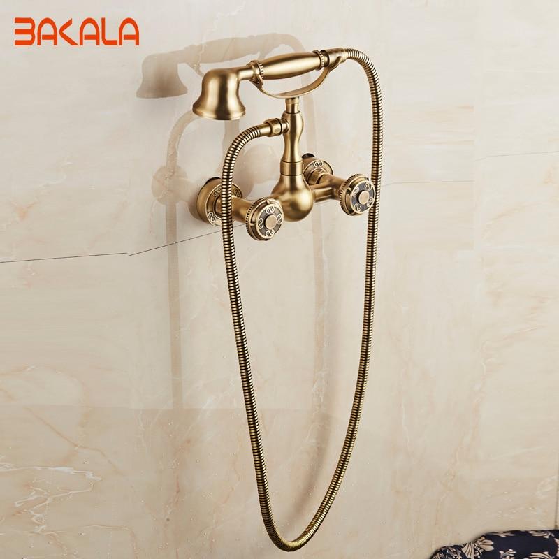 الحائط مقبضين العتيقة النحاس إنهاء مطبخ بالوعة الحمام حوض صنبور خلاط صنبور BR-10851