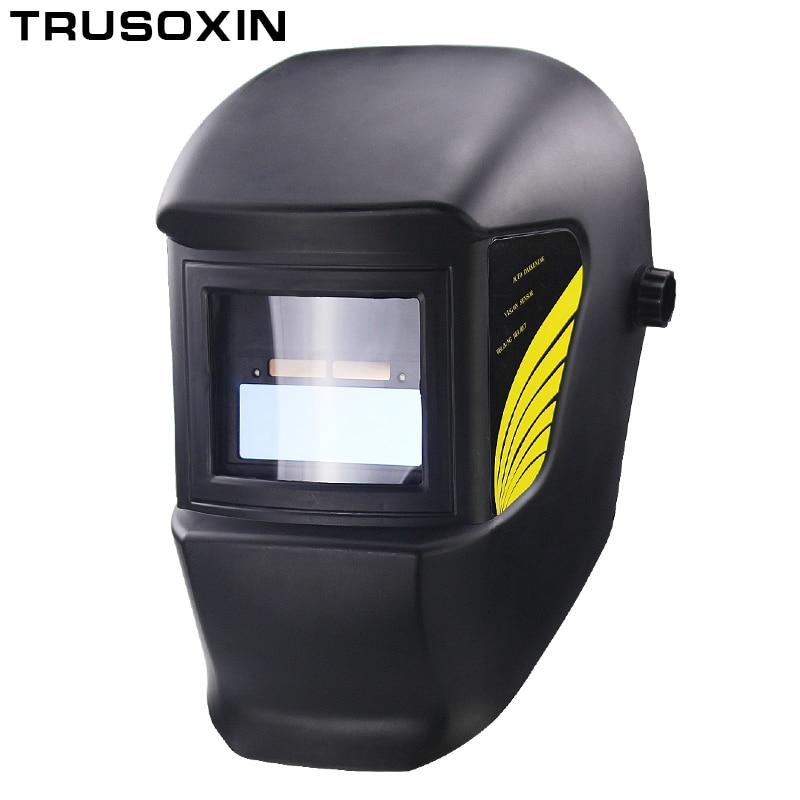 Light Li Battery DIN11 Solar Auto Darkening Electric Welding Mask/Helmet/Welder Cap for Welding Equipment and Plasma Cutter