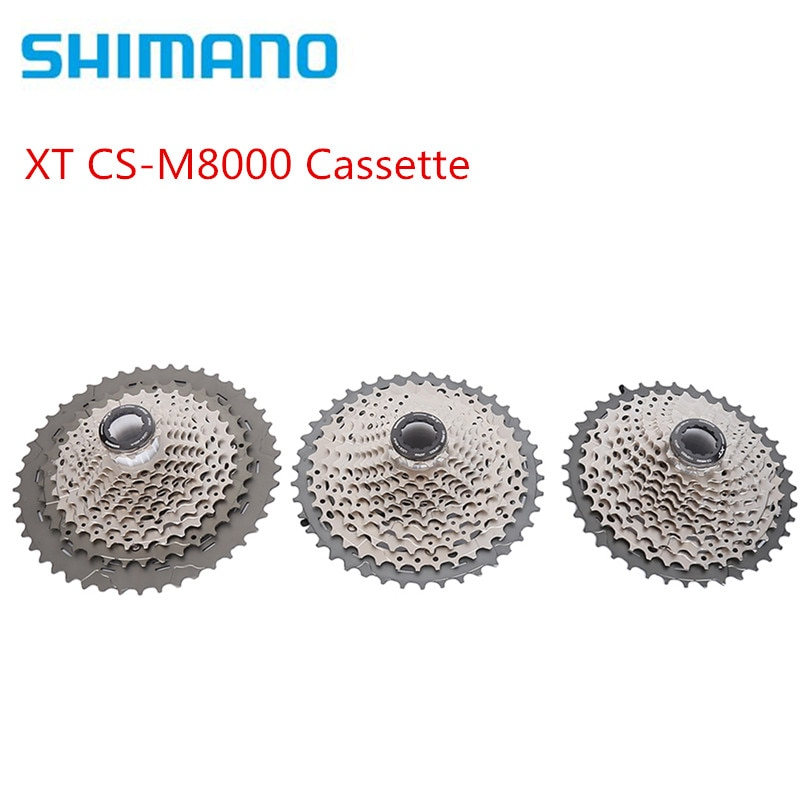 Shimano DEORE XT CS-M8000 Cassette 11S bicicleta MTB bicicleta de rueda libre M8000 cassette de bicicleta de montaña de 11 velocidades 11-40T 11-42T 11-46T