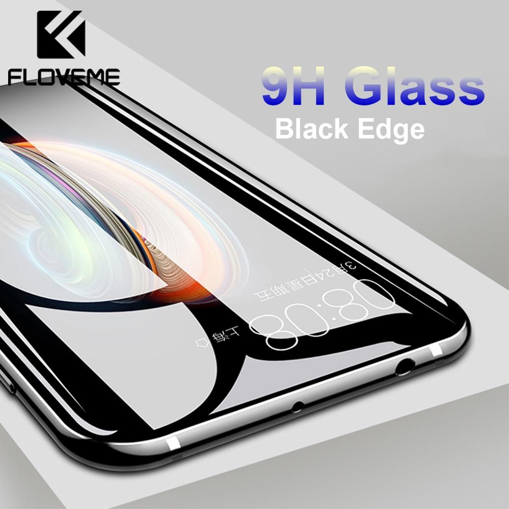 Floveme vidro temperado para iphone 7 plus x 8 plus 9 h protetor de tela de vidro para iphone xs max xr 6 6 s plus 5S película protetora