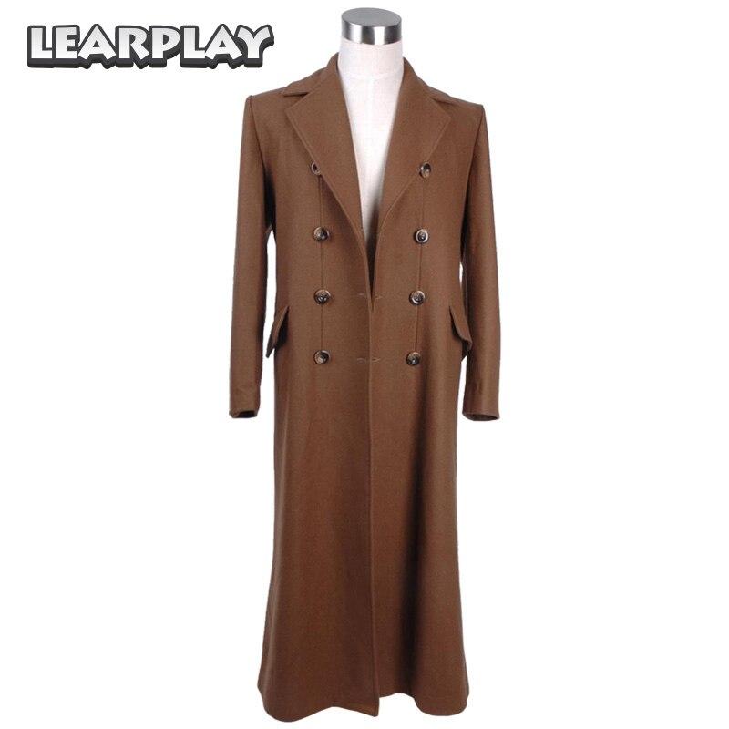 Doctor Who abrigo largo marrón Cosplay disfraz versión de lana trajes de hombre
