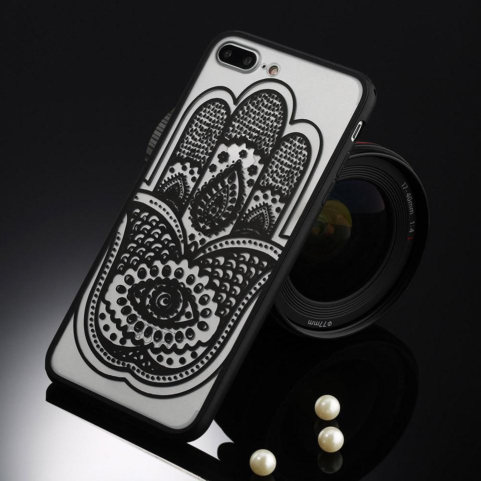 Sexy retro floral phone case dla apple iphone 7 6 6 s 5 5S SE Plus Koronki Kwiat Dysk PC + TPU Przypadki Back Cover Capa Dla iPhone7Plus 20