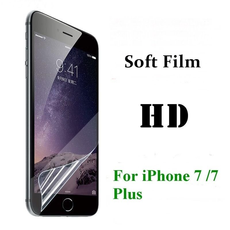 3PCS HD Clear Screen Protector for iPhone 7 7 plus Front Soft Transparent Screen Protective Film For