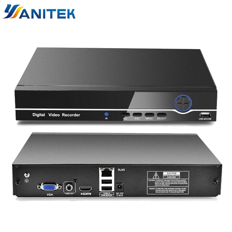HI3536C H.265 8CH 4K / 32CH 5MP 32CH 1080P CCTV NVR 4K Output ONVIF Security Video Recorder H.265 Audio 1*SATA Port XMEYE P2P