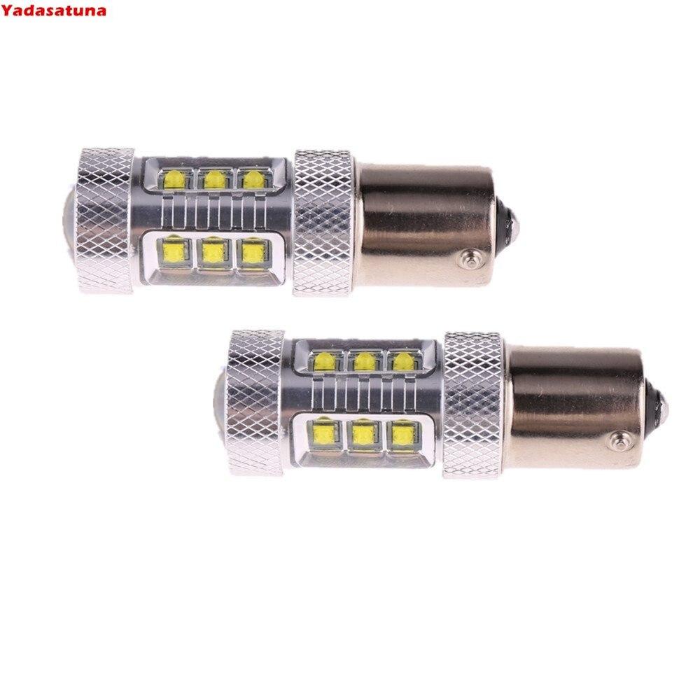 2x Alto Rendimiento de 1156 Bombillas LED para Coche 80W LED DRL...
