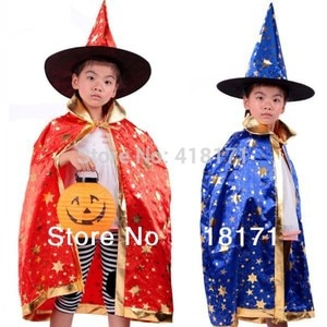 Baby Kids Hallowmas costumes personality kids party clothes poncho+hats enchanter design for christmas Hallowmas wear