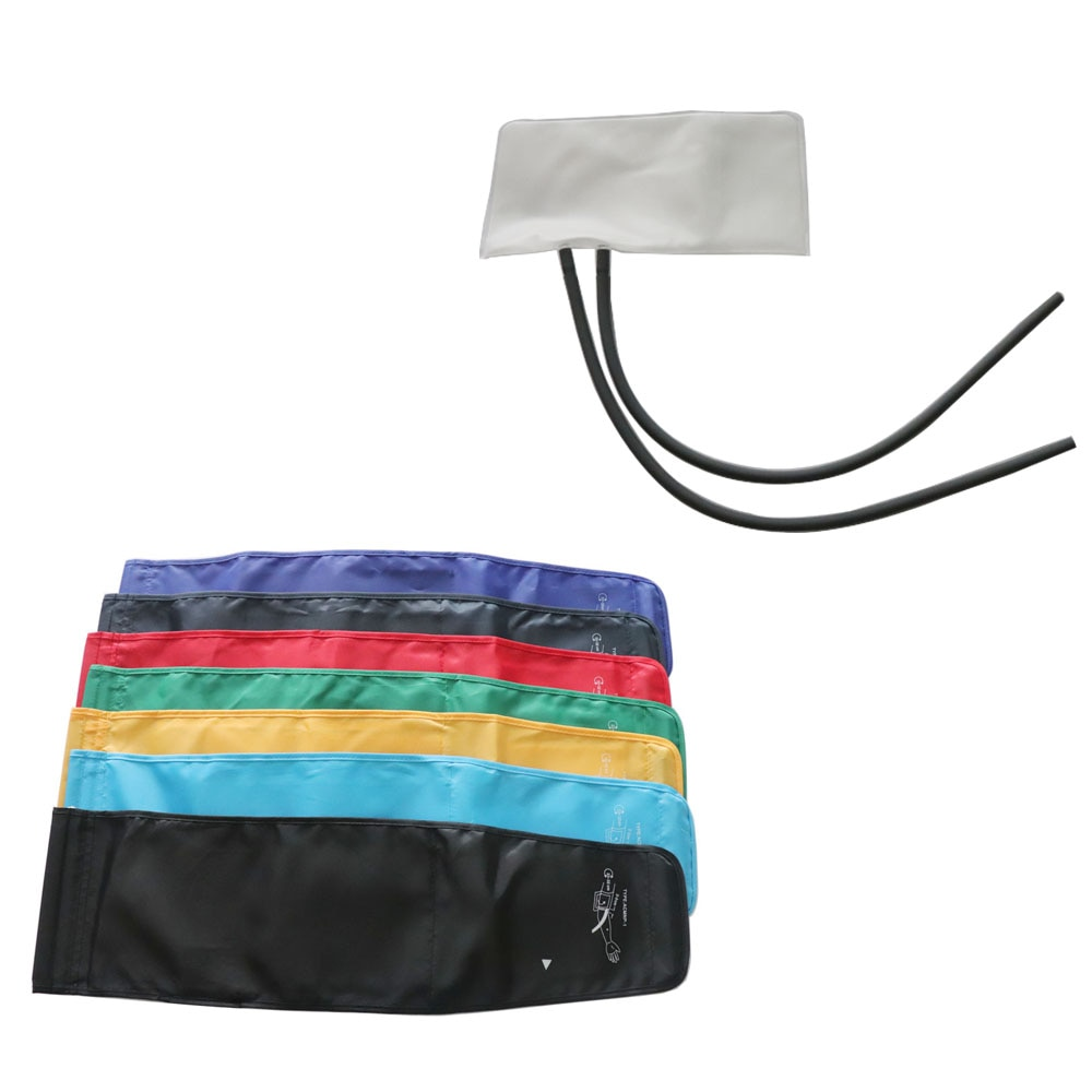 Adult Electronic Hemodynamometer cuff with hoop dual tube, 22-32cm Nylon cuff TPU bladder and PVC tube.