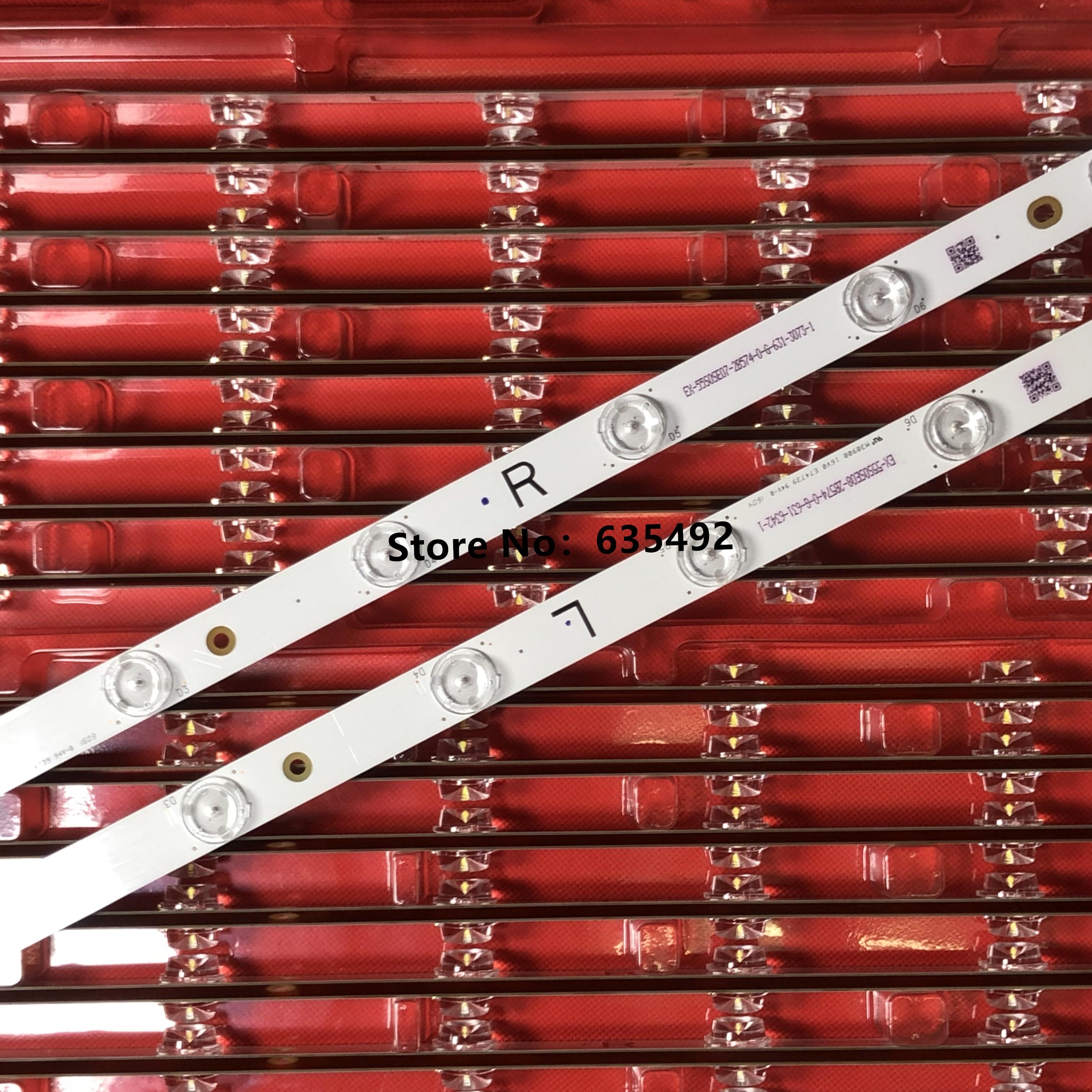 100% Новинка 16 шт. (8R + 8L) светодиодный комплект подсветки для P anason ic TX-55DX603E TX-55DX635E L5EDDYY00849 TB5509M 550TV01 550TV02