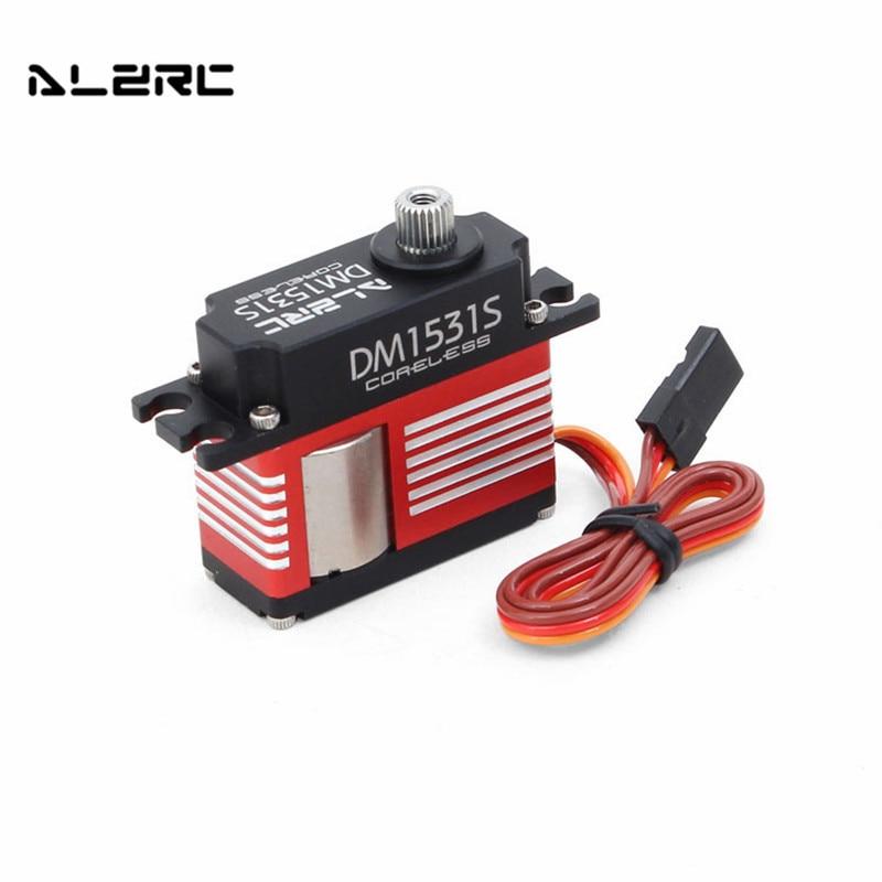 Servo sin núcleo ALZRC DM1531S CCPM mediano Digital Metal todo CNC aluminio con engranaje de Metal para RC helicóptero coche Robot piezas de repuesto