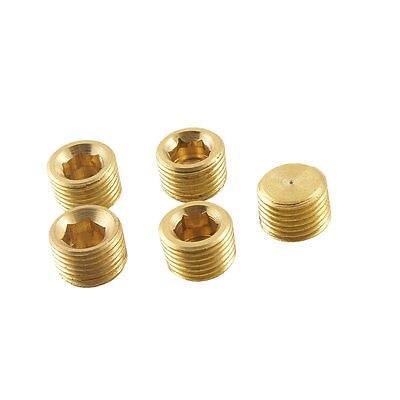 5 Stücke Metall Innensechskant Buchse 9,5mm Gewinde Durchmesser Rohr Stecker Fitting