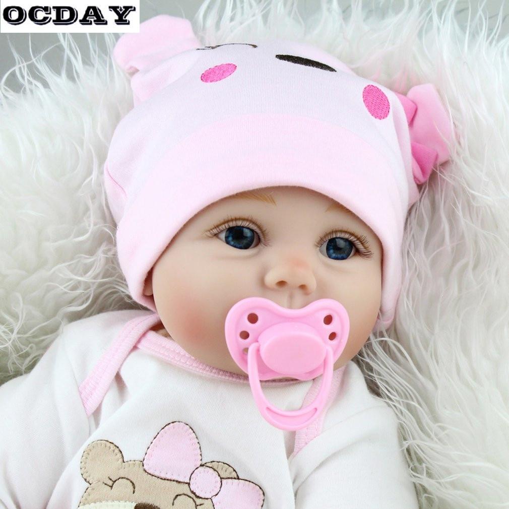 55 см 6 шт./компл., милая детская кукла для новорожденных, Мягкая Реалистичная кукла для новорожденных, игрушки для девочек, подарки на день ро...