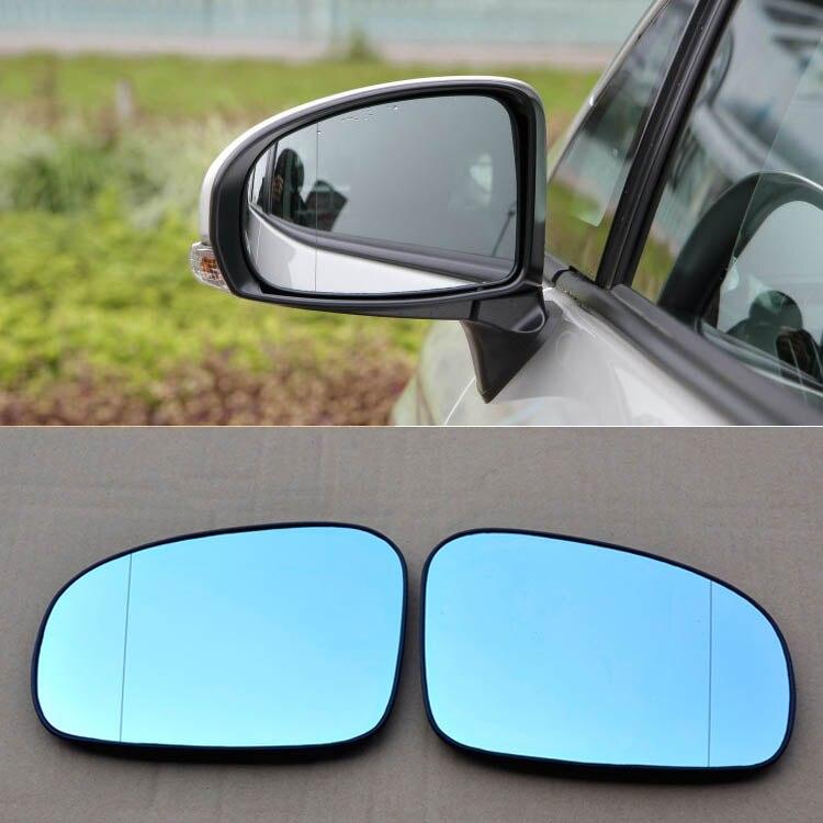Para a Toyota Prius Retrovisor Do Carro Espelho de Grande Ângulo Hipérbole Azul Espelho Flecha LEVOU Transformar Luzes de Sinalização