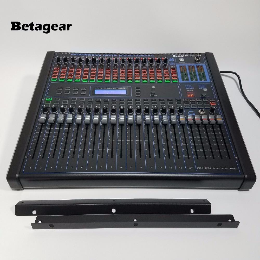 Betagear-خلاط صوت رقمي DGM1640 ، 16 قناة ، احترافي ، مع 100 نوع ، تأثير DSP ، منصة خلاط مثبتة على حامل 19 بوصة