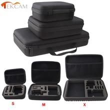 Tekcam for SJCAM Accessories Travel Storage Camera Bag Case for SJ6 LEGEND SJ7 STAR GOPRO HERO 5 XIAOMI YI 2 4k Action Camera