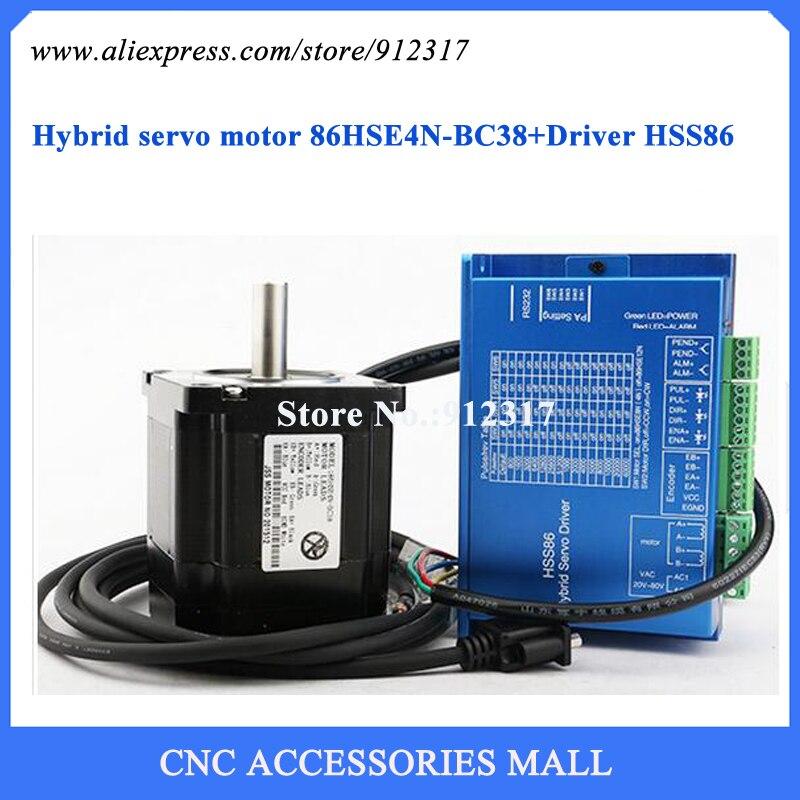 Nema34 Kit de Motor de paso de alta velocidad de circuito cerrado completo 4Nm Motor de paso + juego de Servo híbrido conductor