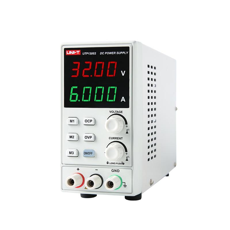 Interruptor UNI-T UTP1306S para fuente de alimentación DC pantalla LED de 4 dígitos 0-32V 0-6 a Mini suministro ajustable de alta precisión AC 220V 50Hz