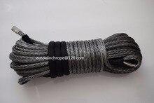 Corde de treuil synthétique grise 12mm * 30m   Câble de treuil Spectra, corde synthétique de remplacement pour treuil, bonne qualité