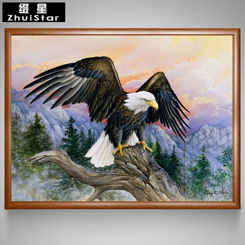 5D DIY Diamond Painting Mountains Eagle Soar Animal Full Diamond Embroidery Cross Stitch Needlework Mosaic Painting Home Decor