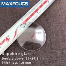 Cristal de reloj Anti-rayado zafiro doble Domo grueso 1,0mm diámetro 30 mm a 39,5mm