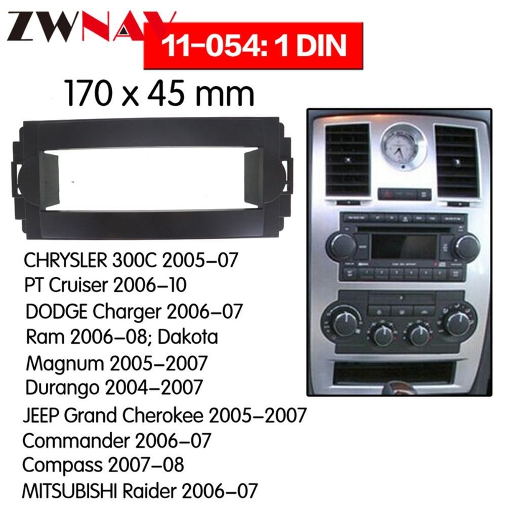 Quadro do leitor de dvd do carro para 2005-2007 chrysler 300c jeep grand cherokee 2005-2007 auto ac preto lhd rhd rádio automático multimídia navi
