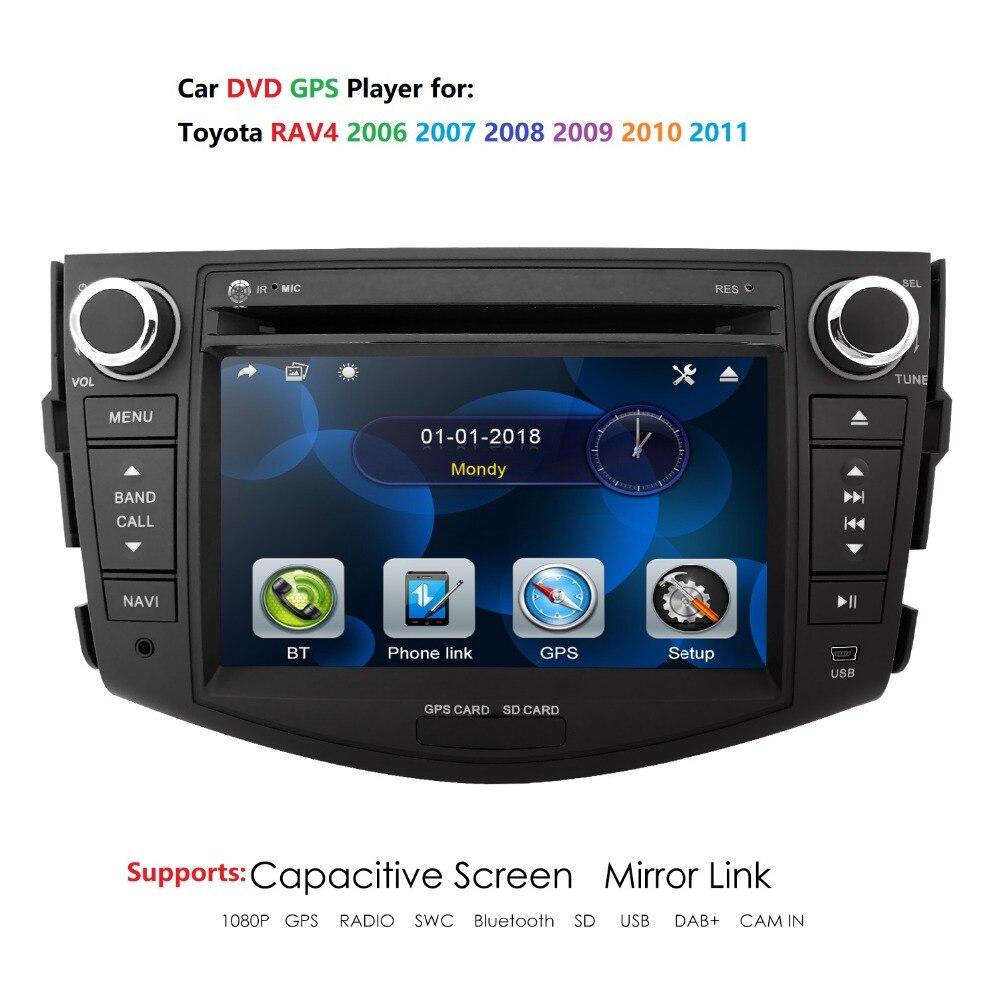 Carro dvd player de rádio multimídia navegação gps para toyota rav 4 rav4 2006 2007 2008 2009 2010 2011 2012 áudio estéreo rds câmera