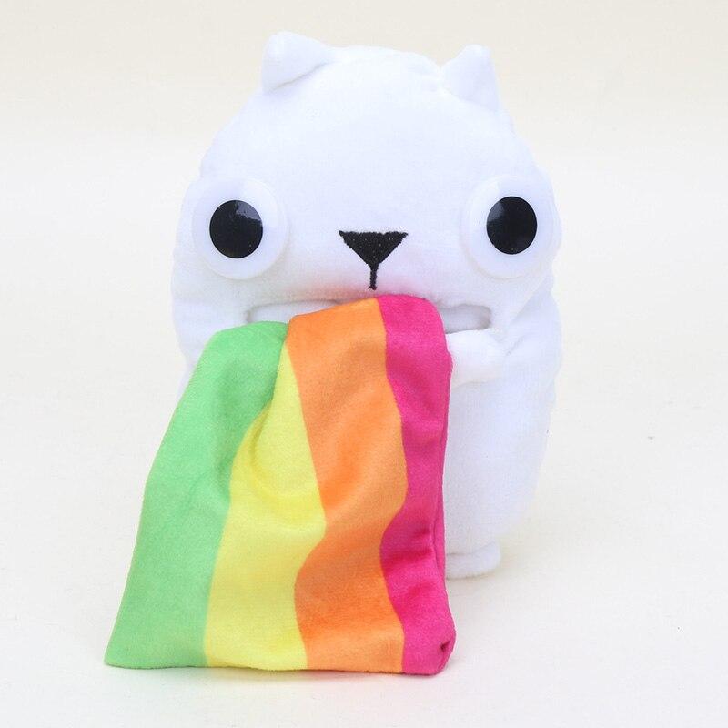 Peludo gato de patata de peluche Taco gato arcoíris Ralphing gato coleccionable juguetes de peluche GOODSTUFF