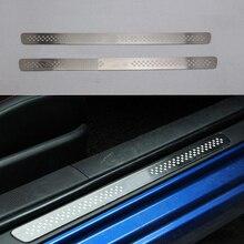 Ультратонкая Накладка на порог из нержавеющей стали для TOYOTA 86 TRD, аксессуары для стайлинга автомобиля 2 шт./компл.