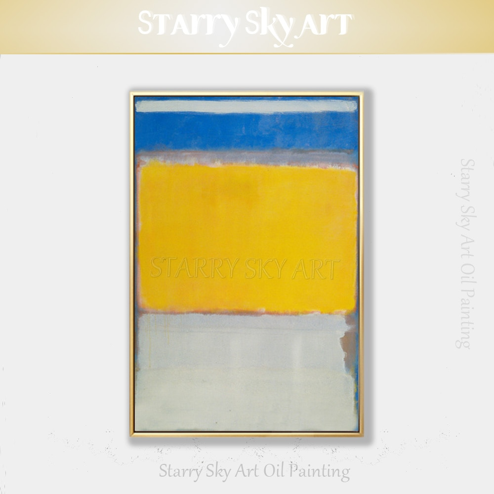 Pintura al óleo artística pintada a mano de alta calidad nórdica contemporánea reproducción Mark Roscoe moderno nórdico abstracto pintura al óleo